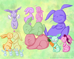 Bunni Pile by PuccaNoodles2009