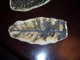 Clay Leaf Bowl 5 by NINJAWERETIGER