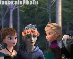 Flower Crowns {Anna x Jack Frost, Elsa x Pitch} by pikatu1997