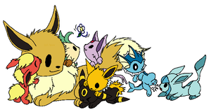 Pokemon - Eeveelutions by NezuKunoichi