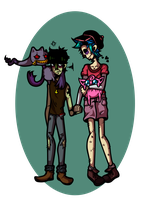 Murdoc and 2D are going on a PKMN adventure! by PatchVVork