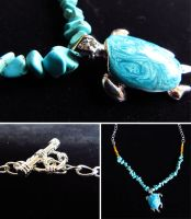 Turtle Necklace by Control-the-Chaos