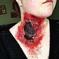 Huge neck wound. by ScarahScrewdriveR