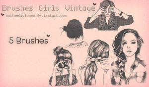 Brushes Girls Vintage By AnitaEdiciones by AnitaEdiciones