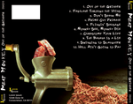 Meat Monkey CD Cover - Back by GiantMosquito