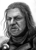 Sean Bean (as Eddard Stark) by k-dezign