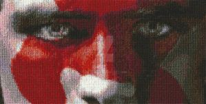 Peeta Cross Stitch - Day 9 - Final by whatthej