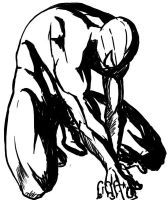 spiderman black and white by duxfox