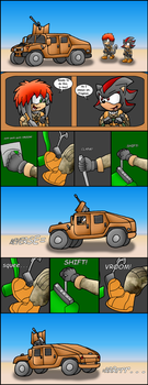 Shadow and Ryan driving a humvee by RyanEchidnaSEAL