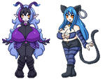 Pixel Characters by Jcdr