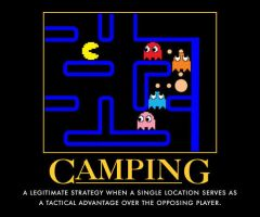 Camping, in Pacman by toadking07
