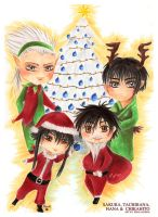 Holiday Greetings 2011 - Gate 7 Chibis by Khallandra