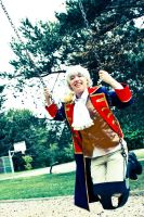Tea Party: Prussia on a Kiddy Swing by FireDeathTeamCosplay