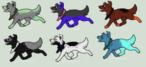 Spotty Doggy's by adoptables100
