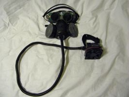 Diesel-Punk Goggles and Rebreather Mask by falloutboy9993