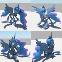 Princess Luna 1/7th scale action figure poses by Sentinel373