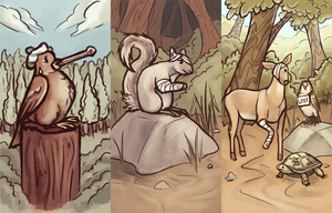 Thesis Injured Animal Illustrations by Vogelspinne