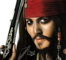 Speed painting Jack sparrow by Daviddleonluis