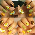 Sunflower nails by AndreEleana