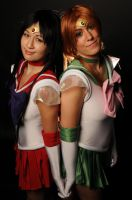 Otakon 2012 - Sailor Mars and Sailor Jupiter by King-Bobbles