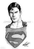 Superman--Christopher Reeve by tedwoodsart