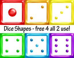 Dice Shapes by Shortstuff81000