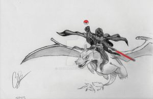 Darth Vader Riding Charizard because..... why not? by CodyBad