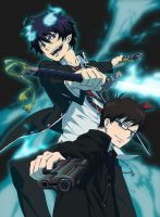Ao no Exorcist by LightningFarron165