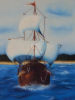 Caravel Oil painting by Gvs-13