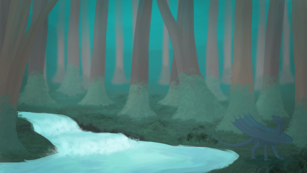 .:60 minute challenge:. Hour in the woods by Eldritch-Dragon