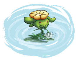 Skiploom by Pokeaday
