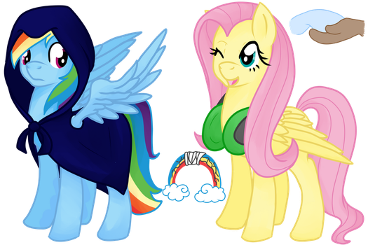 Eclipseverse Rainbow Dash and Fluttershy by crowmagnon