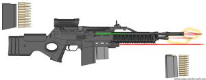 D.I.I. 'Kratos' TT-9 Adv. Assault Rifle by Lord-DracoDraconis