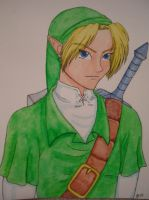 Link Watercolor by DarthJader11