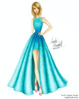 Taylor Swift 57th Grammy Awards by angelaaasketches