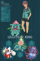 Pokemon Dream Labs - Lillith W. King by BeefyStew