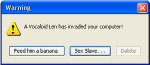 Len Kagamine Error Message by Yaoi0Yuri0rules