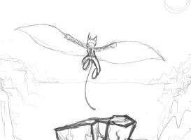 Lifting Off Sketch by Trigus