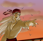 Sunset Savvy Sesshoumaru Sailing the Seven Seas 2 by Kitty-Kaye