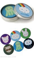ShanaLogic Cuties Coaster Set by pixelgirlpresents