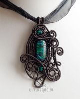 Dichroic glass gothic pendant by ukapala