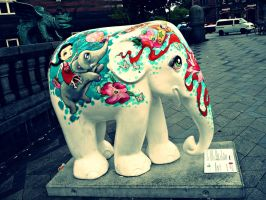 Copenhagen Elephant Parade 20 by Skorpiotronik