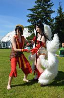 Ahri and Toph Bei Fong - RASENGAN! by SamuiCosplay