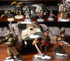Tyranid and Imperial Guard by NavalAce