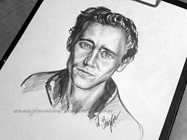 tom hiddleston. by AnnaZinovieva
