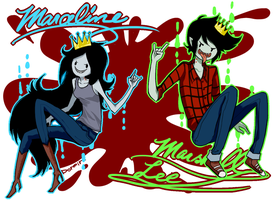 Vampire Queen and King by q-dormir