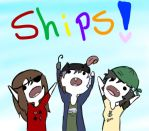 we are the crew of  the ships! by Ask-Olive-And-Oliver