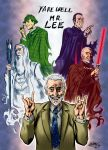 Christopher Lee tribute by MatiasSoto