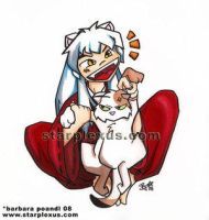 inuyasha loves kagome's kitty by YoukiClub