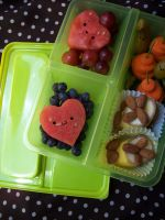 Raw vegan noob bento by spootdemon